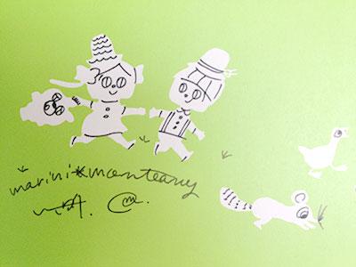 マリーニモンティーニの サイン入り本も ゲットー!