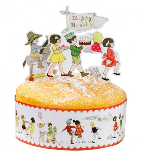 外国じゃぁパーティケーキに こげなカワイイもんがのってるそうだ!